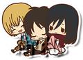 Attack on Titan Rubber Straps - Eren, Armin, Mikasa