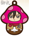 Attack on Titan Charanoko Straps - Mikasa Ackerman