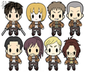 Attack on Titan Keychains vol. 1 - Dot Pixis