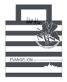 Evangelion Tote Bag Striped NERV version