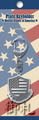 Flags of the World Metal Plate Keychains - United States of America