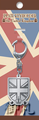 Flags of the World Metal Plate Keychains - United Kingdom