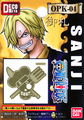 One Piece Pirate Flag DecoMeta Sticker Collection - Sanji