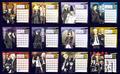 Katekyo Hitman Reborn! 2012 Desktop Calendar Anime Version