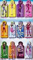 One Piece Girls Diecut Desk Calendar 2012