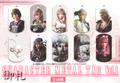 Final Fantasy XIII-2 Character Metal Tag Vol.1 - Lightning and Serah Farron