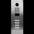 DoorBird IP Video Door Station D2104V, stainless steel V2A, brushed, 4 call buttons Part# 423870789