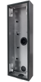 DoorBird D2101KV/D2102FV EKEY surface-mounting housing (backbox), Stainless steel V4A, brushed, PVD coating with titanium-finish, Part# 423867796