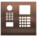 Front panel for DoorBird D21DKH, Stainless steel V4A, brushed, PVD coating with bronze-finish, Part# 423868182