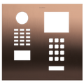 Front panel (e.g. as replacement part) for DoorBird D2101xKH, Stainless steel V4A, brushed, PVD coating with bronze-finish, Part# 423866676