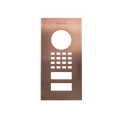 Front panel for DoorBird D1101V Flush-mount, Stainless steel V4A, brushed, PVD coating with bronze-finish, Part# 423868335
