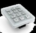 Keypad Module with 12x stainless steel keys, for DoorBird D1101KH Classic, D1101KH Modern, D2101KV, D2101KH, D2101IKH and D2101FPBK, Part# 423866355