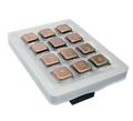 Keypad Module with 12x Stainless steel V4A, brushed, PVD coating with bronze-finish, for DoorBird D1101KH Classic, D1101KH Modern, D2101KV, D2101KH, D2101IKH and D2101FPBK, Part# 423866386