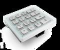 Keypad module with 16x stainless steel keys for DoorBird D21DKx, Part# 423860483