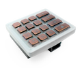 Keypad module with 16x Stainless steel V4A, brushed, PVD coating with bronze-finish, keys for DoorBird D21DKx, Part# 423868168