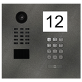 Doorbird IP Video Door Station D2101IKH, For single-family houses and commercial buildings, Stainless steel V4A, powder-coated, semi-gloss, DB 703, with 1 unit Info Module, Keypad Module, 1 Call Button, Part# 423867970