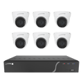 Speco ZIPK8TA, 8Ch H.265 NVR with 5 Outdoor IR 5MP IP Cameras and 1 4K AI camera, 2.8mm fixed lens, 2TB- KIT