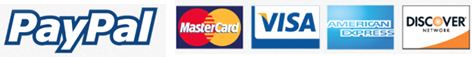 Accepts PayPal Mastercard Visa American Express Discover