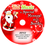 Santa Message Personalized Christmas Kids Music CD