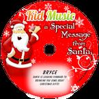 Santa Message Personalized Christmas Kids Music CD