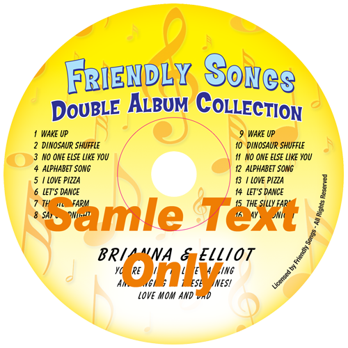 Double Name or Double Album Personalized Music CD - Kid Music