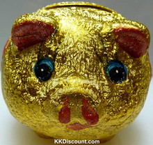 Lucky Gold Piggy Bank
