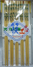 Chinese bamboo design chopsticks pack