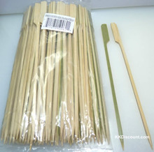 large flat bamboo skewers