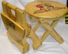 Small Folding Wooden Chair Stool