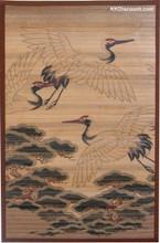 Bamboo Crane Design Area Rug