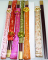 Chinese Wooden Chopsticks with Cloth Cover Pack