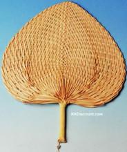 palm weaved hand fan