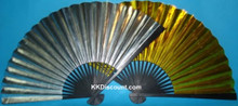 Large Gold Silver Paper Hand Fan