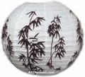 Bamboo Design White Paper Lantern