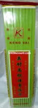 Plastic Chinese Green Chopsticks Pack