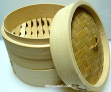 6 inch Bamboo Steamer Base Lid