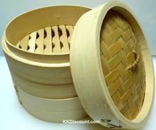 8 inch Bamboo Steamer Base Lid