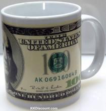 100 Dollars Bill Mug