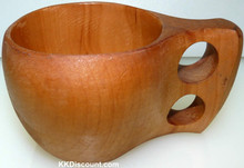 Wooden Mug with Fingers Handle