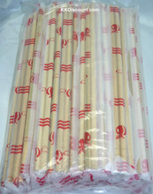 Round Individual Sealed Disposable Bamboo Chopsticks Pack 80 pairs
