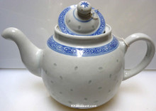 Rice Pattern Round Tea Pot
