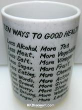 Ten Ways to Good Health Cup