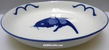 Blue Carp Fish 7 Inch Dish