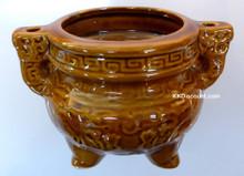 Medium Joss Incense Pot with Handle