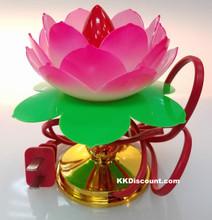 Electric Red Lotus Lamp Light
