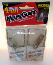 MouseGuard Small Mouse Traps 4 Pack with Metal Bait Pedal