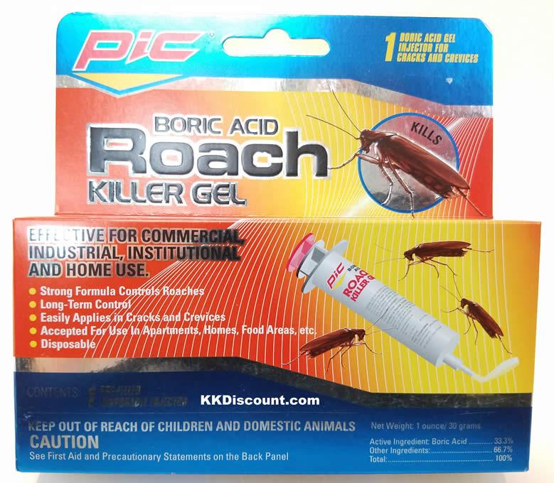 Pic Boric Acid Roach Killer Gel K K Discount Store