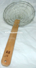 10 Inch Galvanized Steel Mesh Spider Skimmer with Bamboo Handle