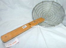 Heavy Duty Iron Spider Skimmer with Bamboo Handle
