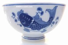 Modern Blue Koi Fish 4.5 Inch Rice Bowl